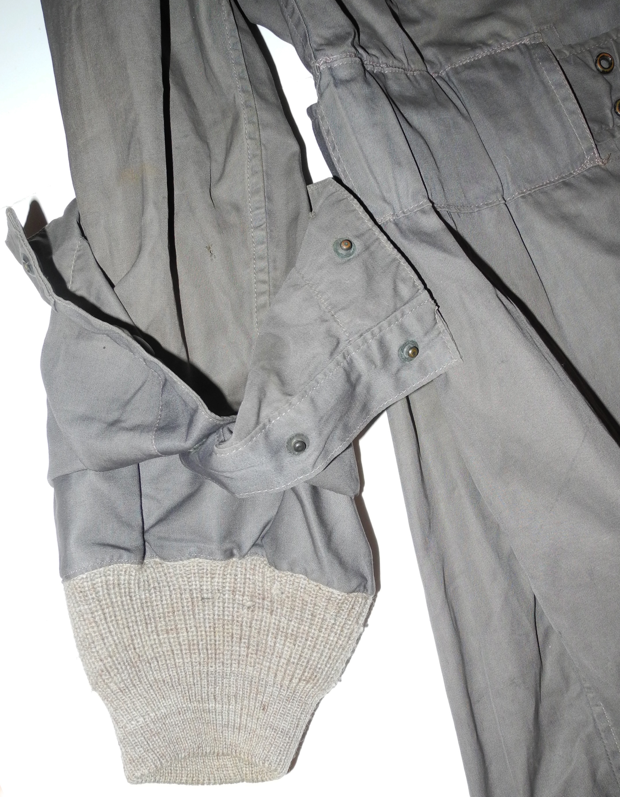 RAF Beadon flying suit with rare silk scarf still attached