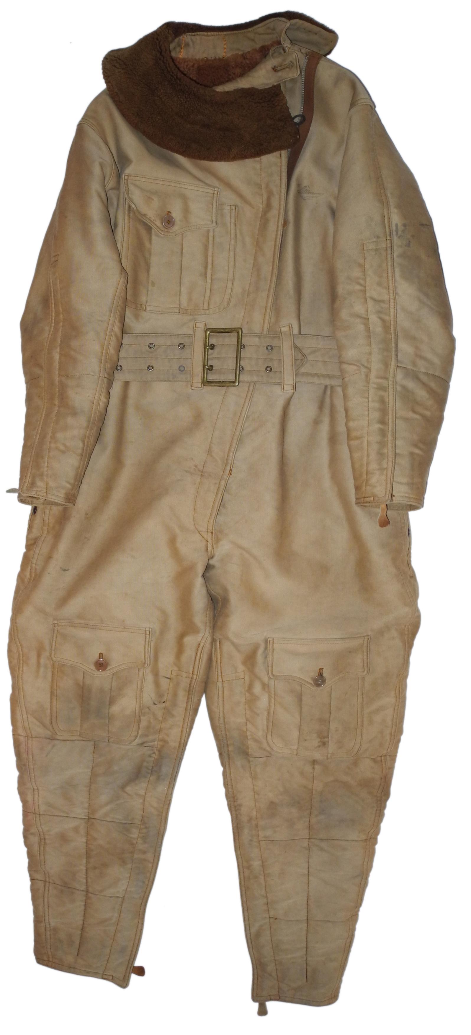 1920s USN lined corduroy flight suit