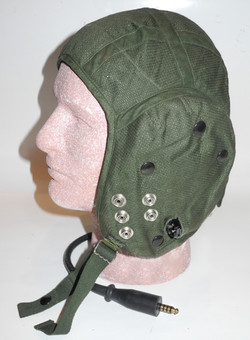 RAF Type G Flying Helmet in green cotton, dated 1990