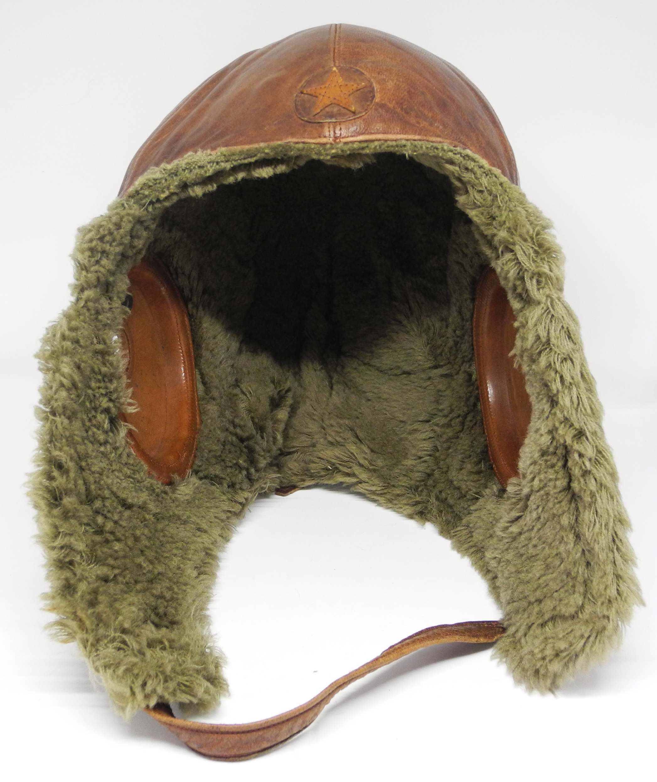 Japanese Army winter flying helmet
