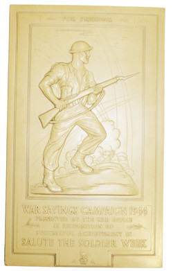 Army War Savings Campaign Plaque 1944
