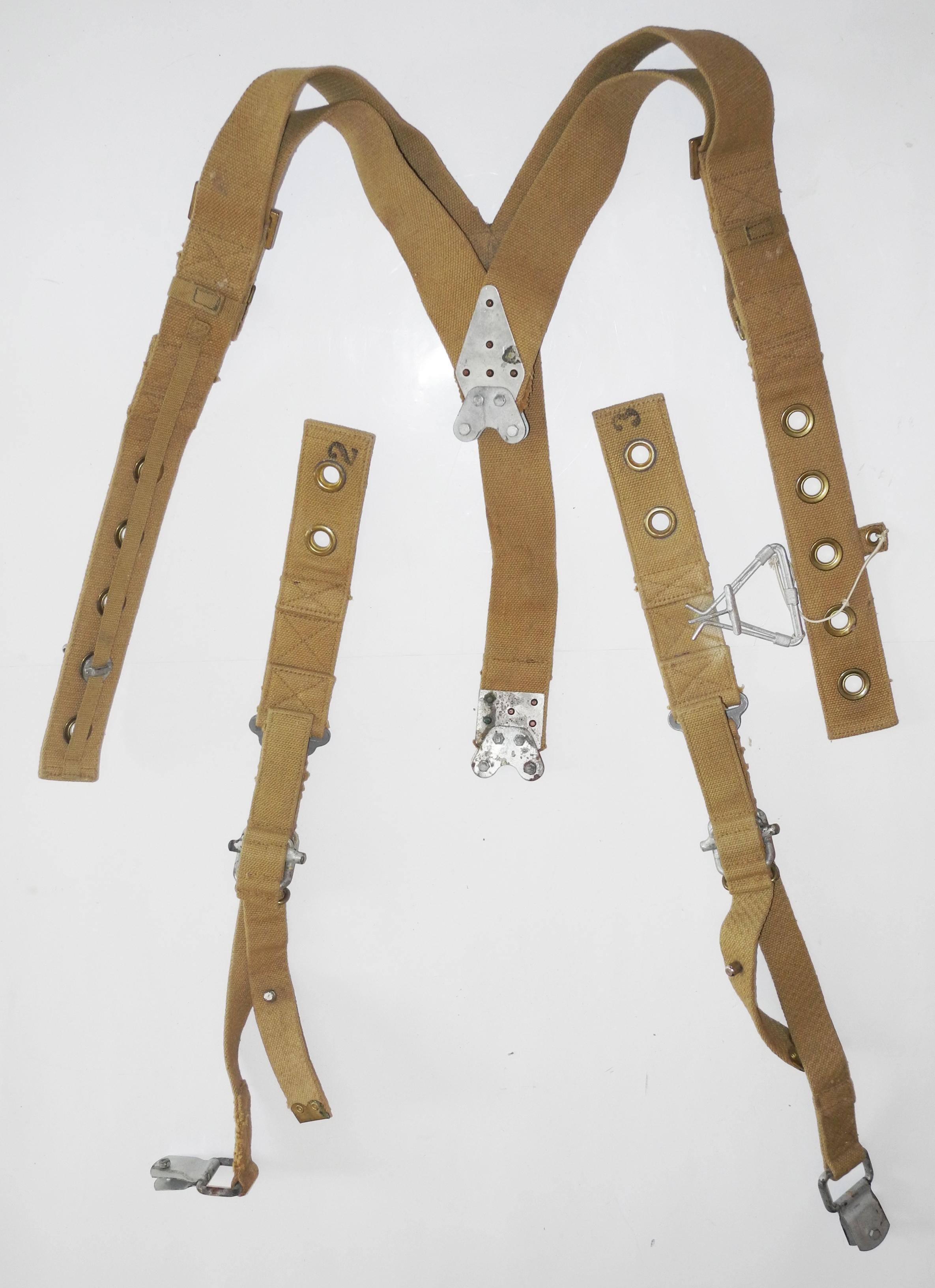 "RAF aircraft seat belt ""Sutton"" Harness dated 1943."
