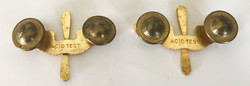 Pre-war/early WWII AAF winged propellor officer's collar devices in gold