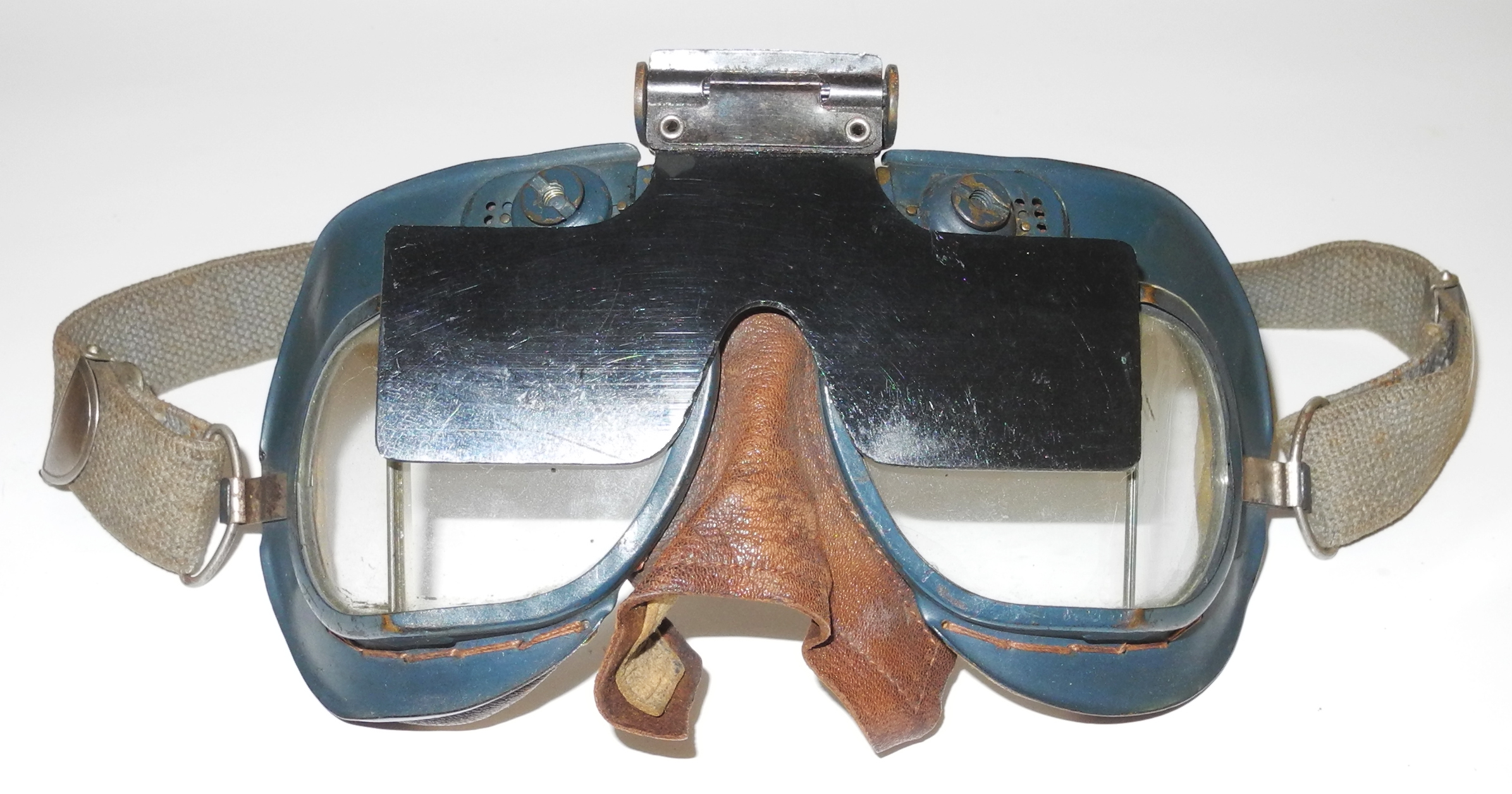 RAF Mk VII goggles with polarizing sun screen