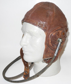Lewis helmet with DH style Gosport receivers and tubes, brown leather