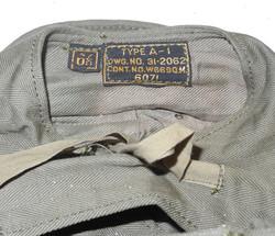 AAC Type A-1 flight helmet/mechanic's cap