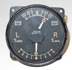 RAF Turn and Slip indicator gauge believed to be from a Lancaster
