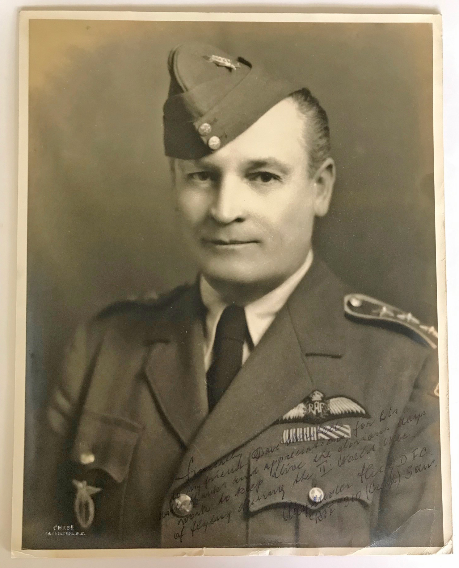 Signed photo Alexander Hess DFC