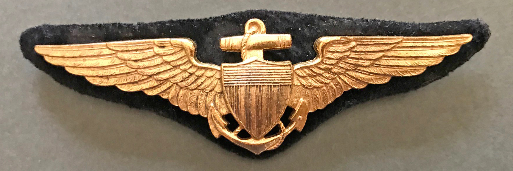 WWI US Navy aviator wing