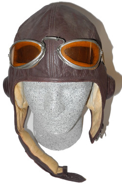 1930s USN helmet and goggles