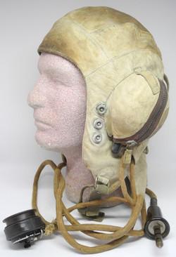Rare white FAA wired helmet