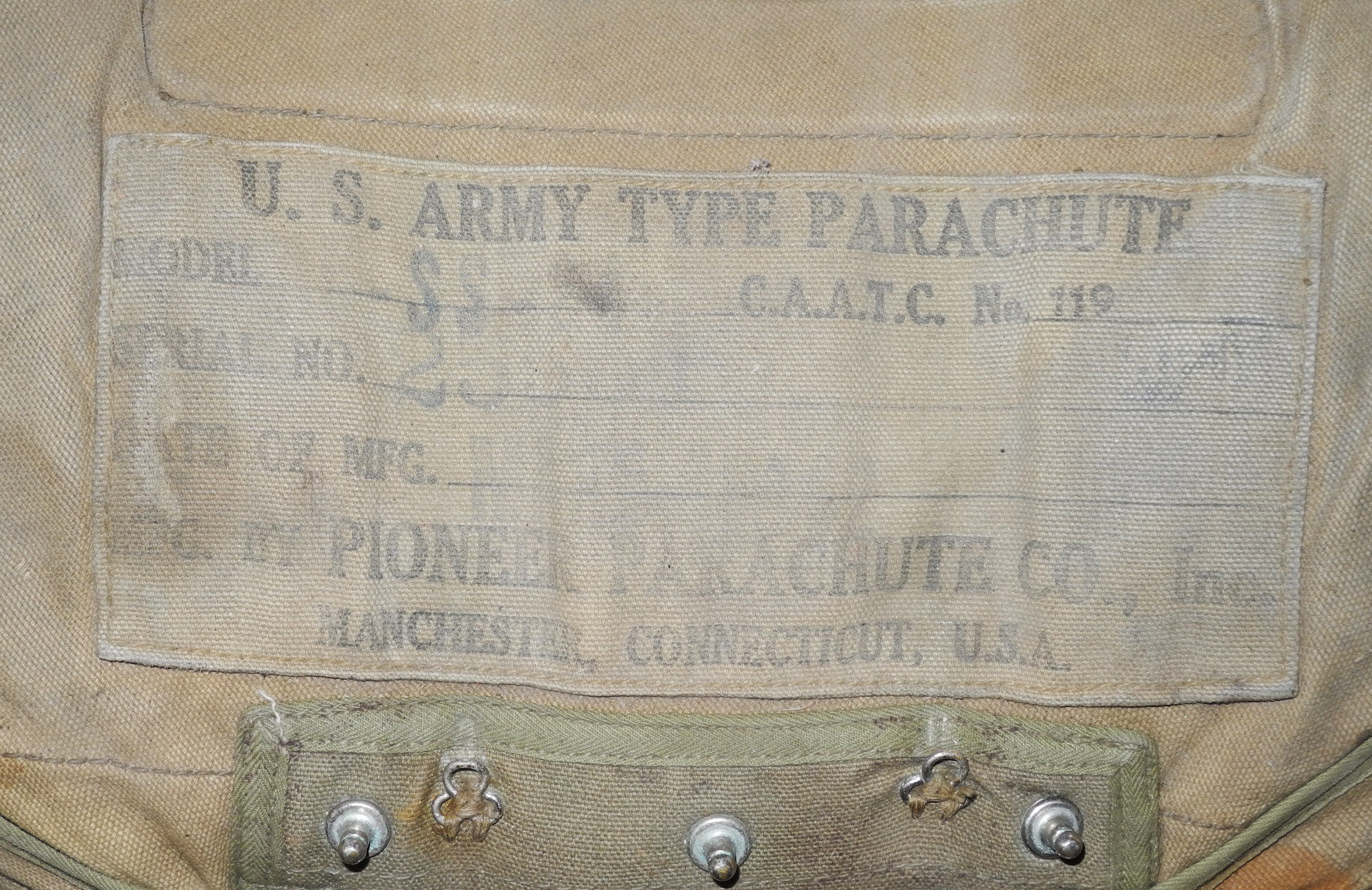 RARE Early AAC seat type parachute