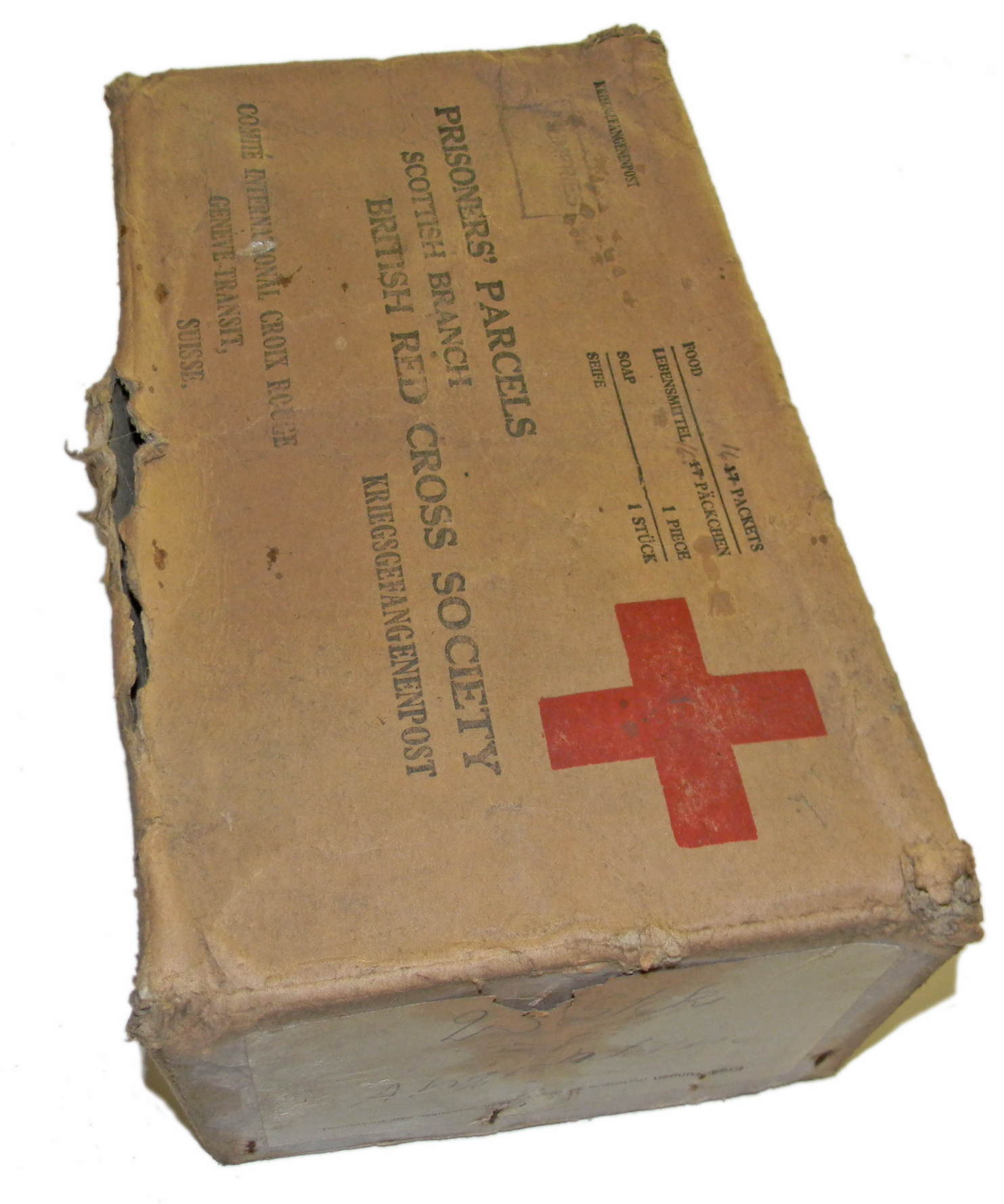 WWII P.O.W. Red Cross parcel box