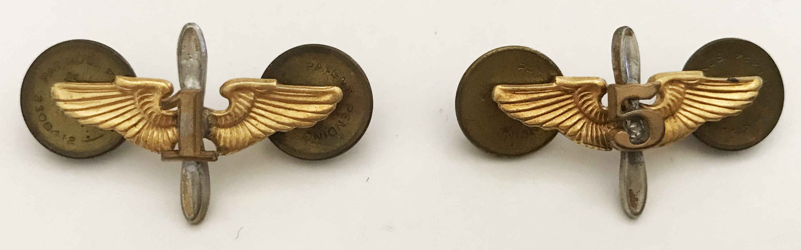 """AAF winged props, matched pair with """"15"""""""
