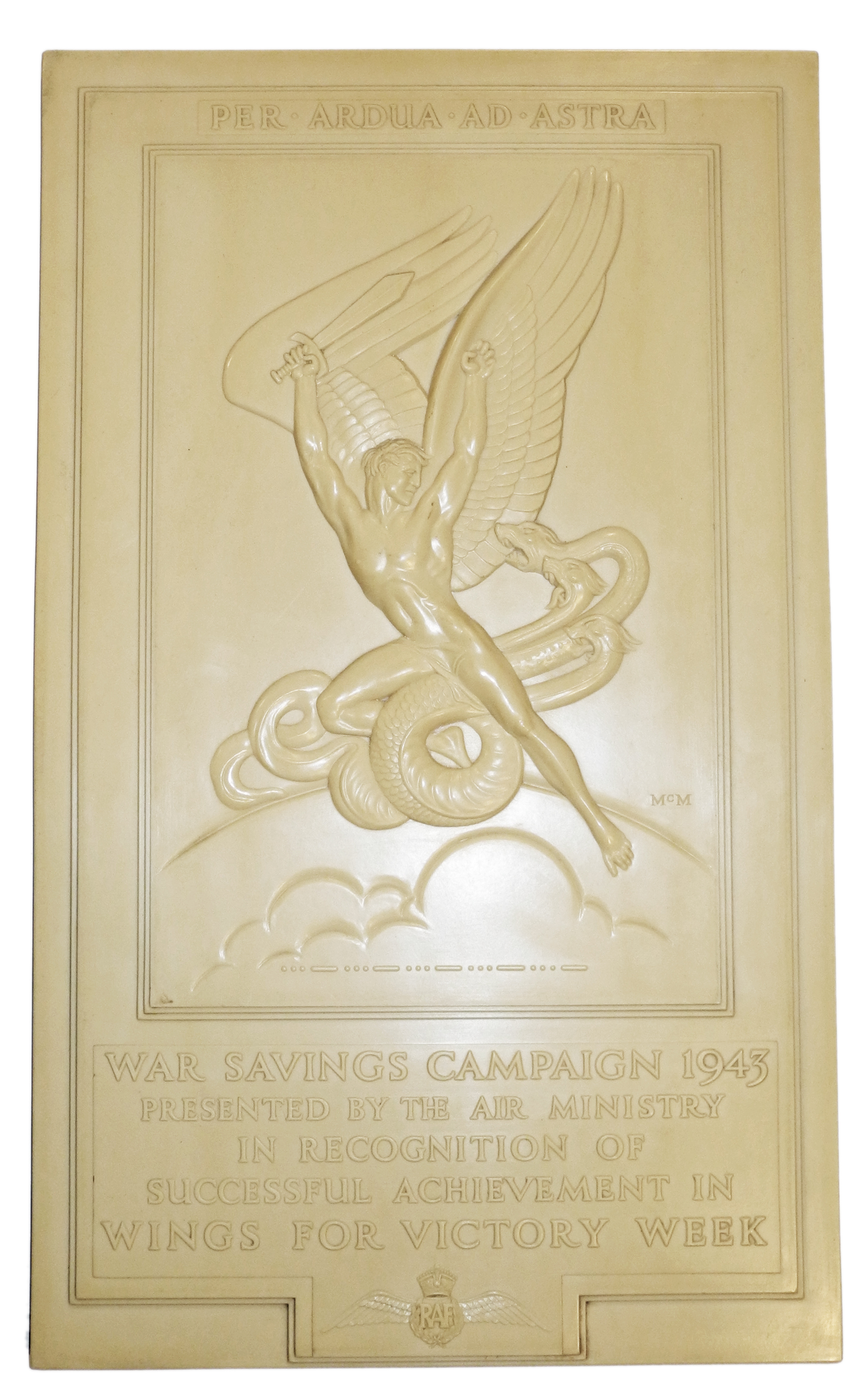 RAF War Savings Campaign Plaque 1943