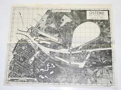 RAF photographic target map Ostend, Belgium