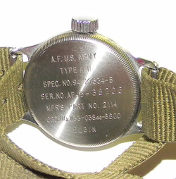 AAF A-11 wrist watch by Elgin