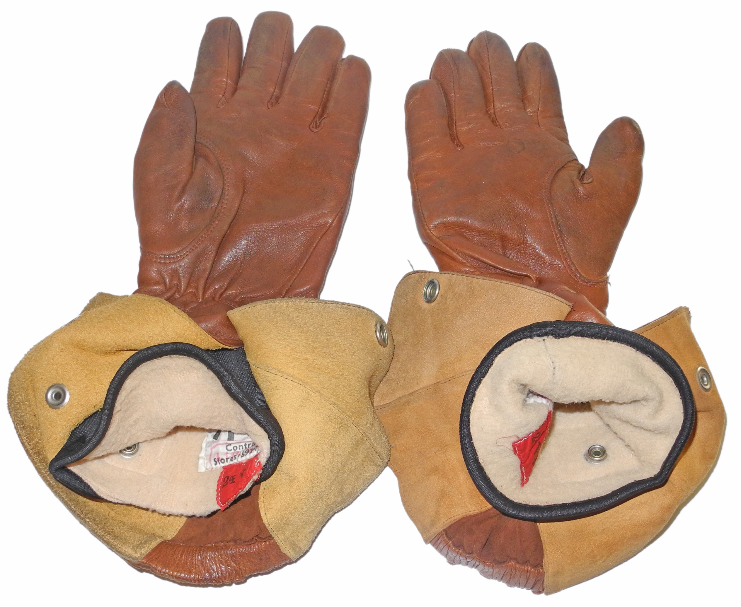 RAF Type H heated flying gloves