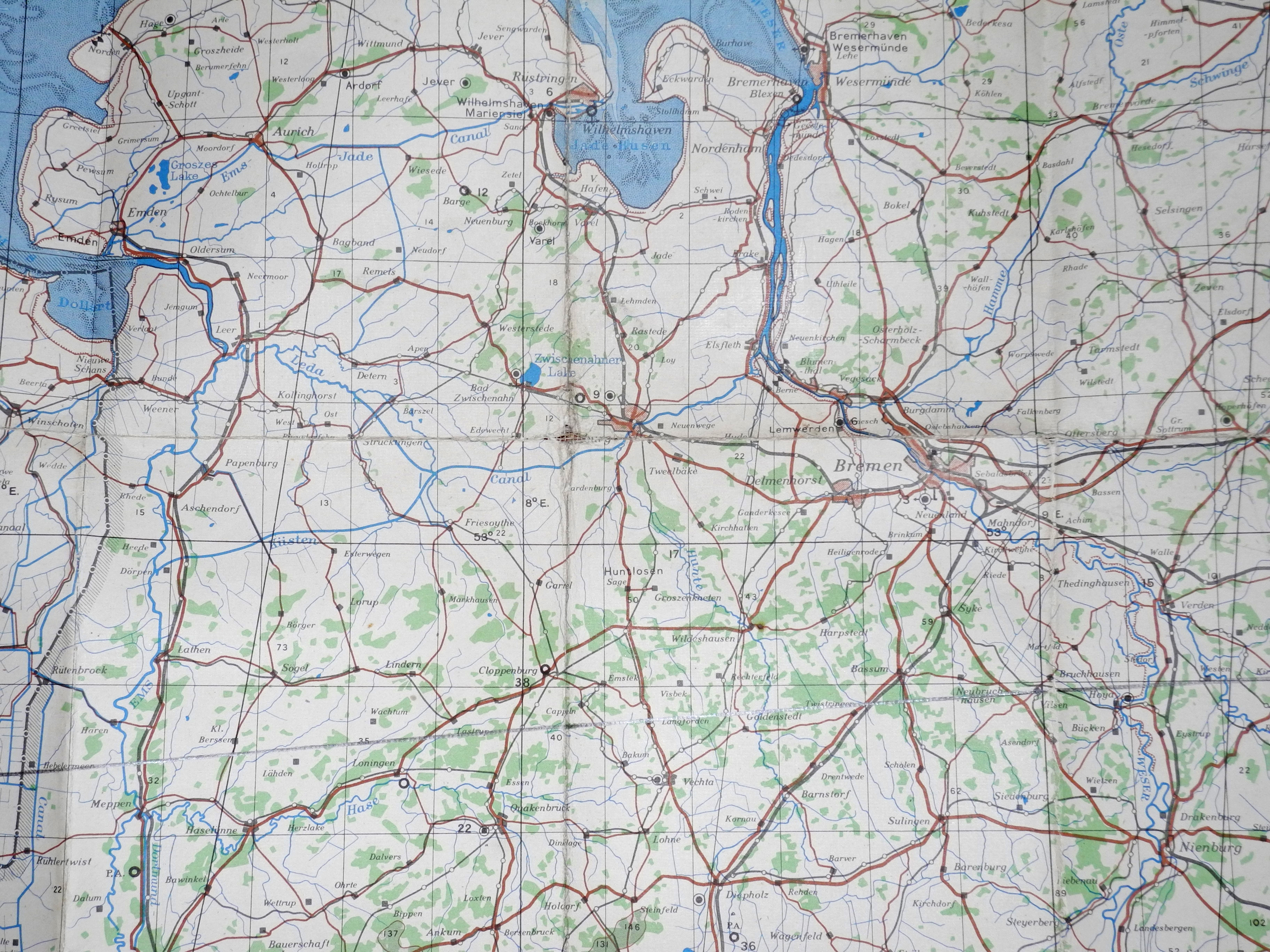RAF navigation chart Bremen