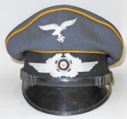 Luftwaffe other ranks visor cap, privately purchased