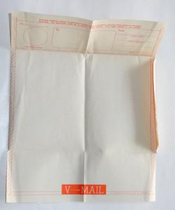 Blank, unused V-Mail letter