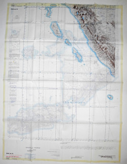 USAF double-sided Rayon Operational Navigation Charts 1960s x 3