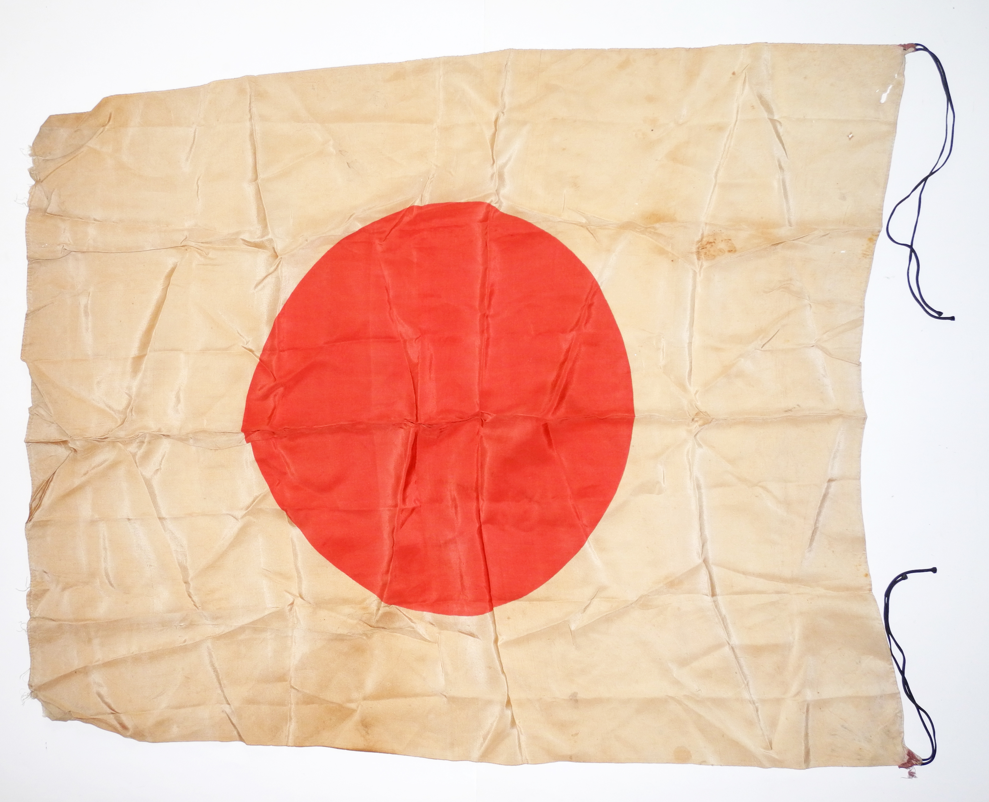 Japanese battle carried silk flag