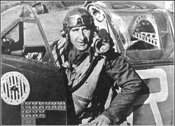 Jan in his Spitfire: note gunsight