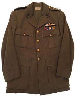 Named RASC tunic with RAF pilot wing