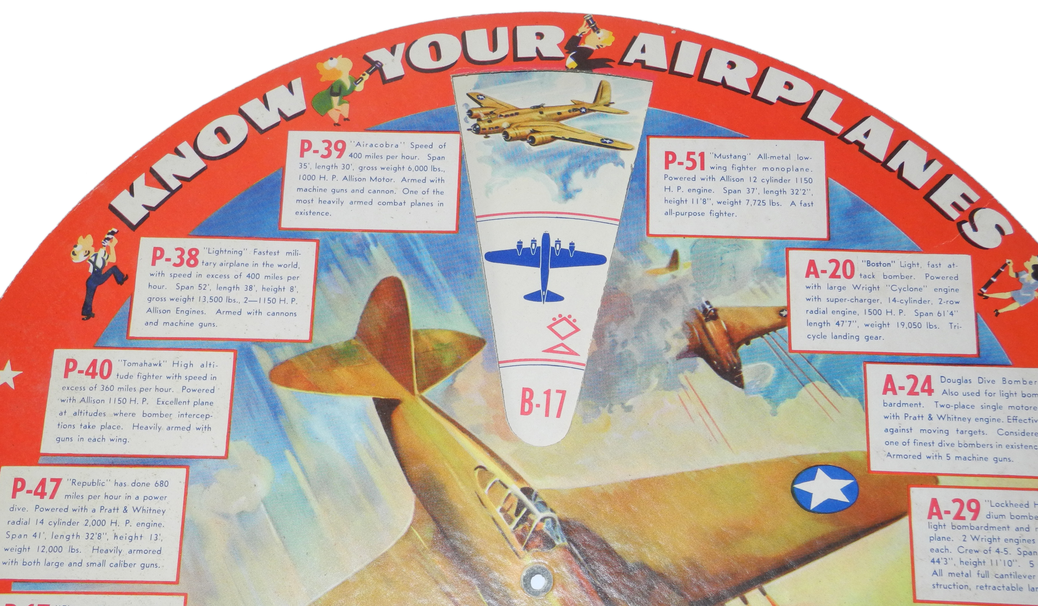 """AAF """"Know your Planes"""" ID disk"""