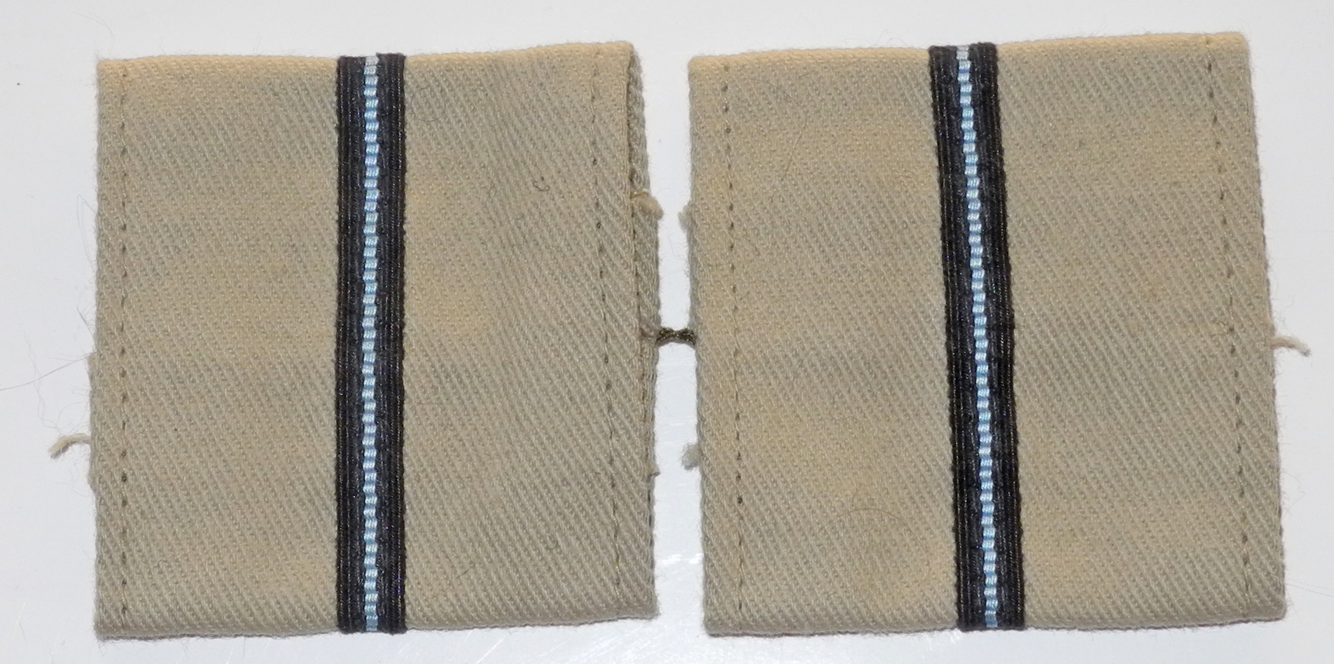 WWII KD rank slides for Pilot Officer