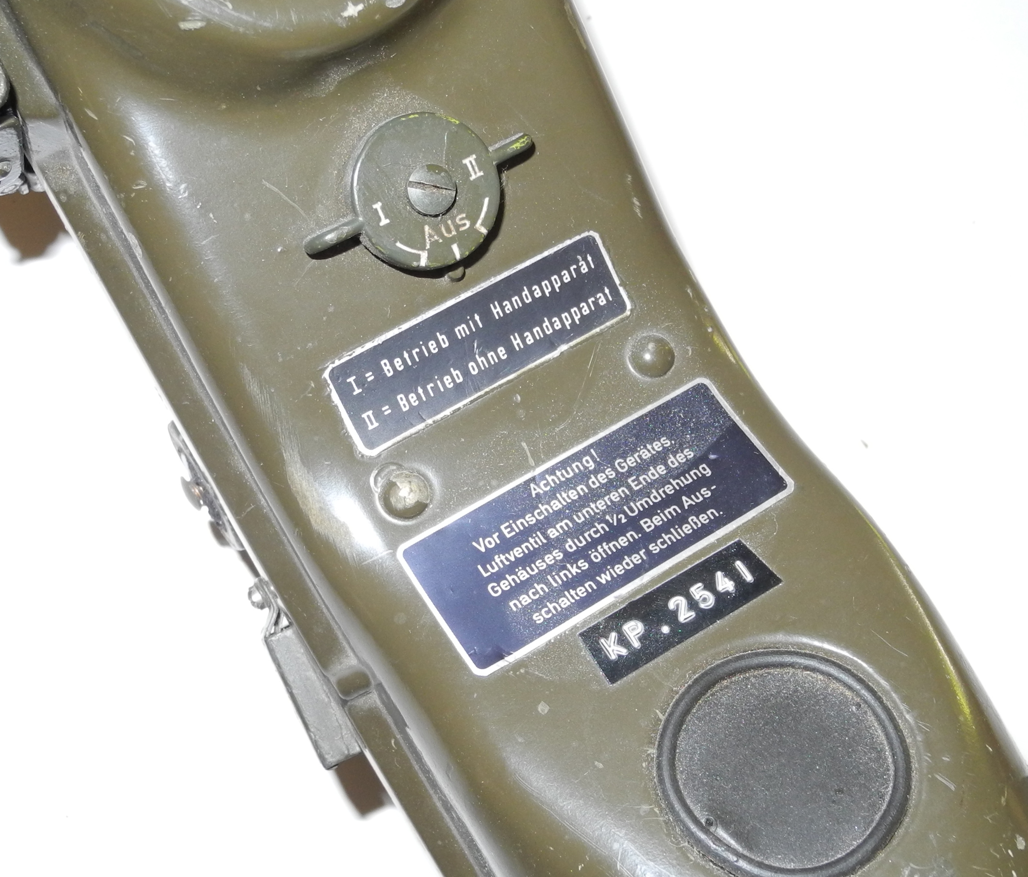 Cold War era German walkie-talkie