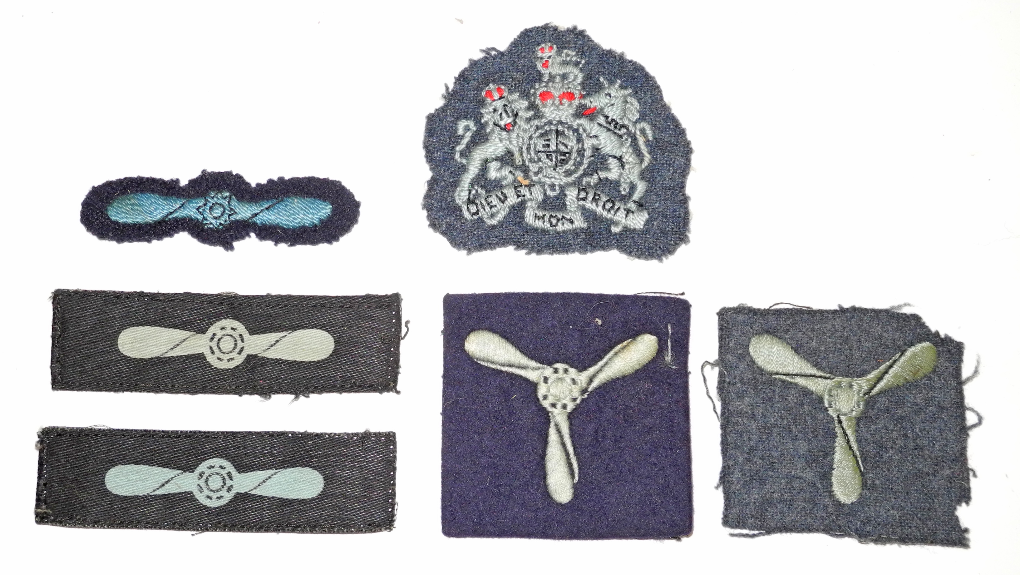 Various RAF rank + trade insignia