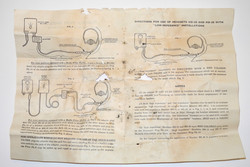 Instruction sheet for HS-33 / HS-38 radio headset.