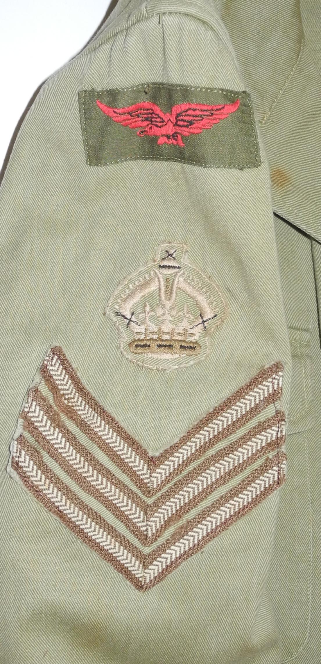 RCAF Khaki Drill SD jacket Flt. Sgt.