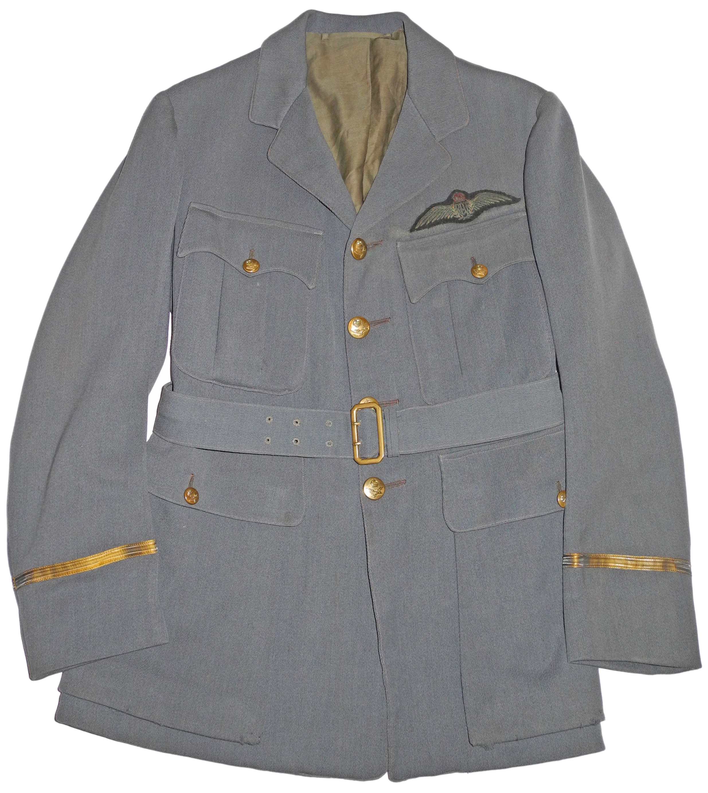 1918 Pattern RAF officer's Service Dress tunic in Russian blue.