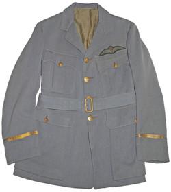 1918 Pattern RAF officer's Service Dress tunic in Russian blue.
