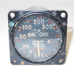 RAF aircraft Fuel Gauge, believed to be from a Lancaster