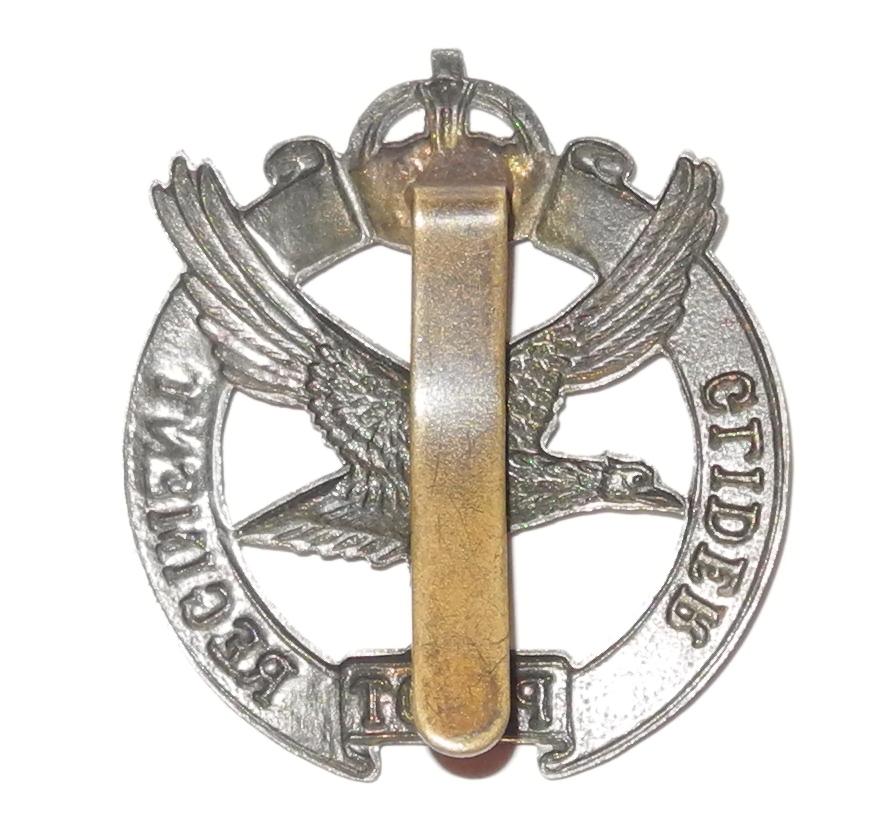 Scarce WWII Glider Pilot Regt. cap/beret badge, slider back20