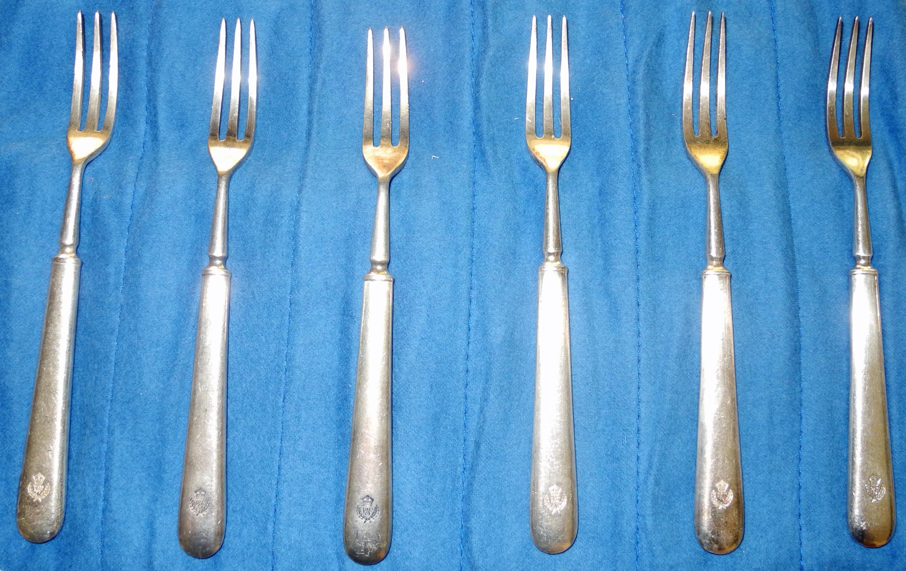 RAF officers cocktail forks