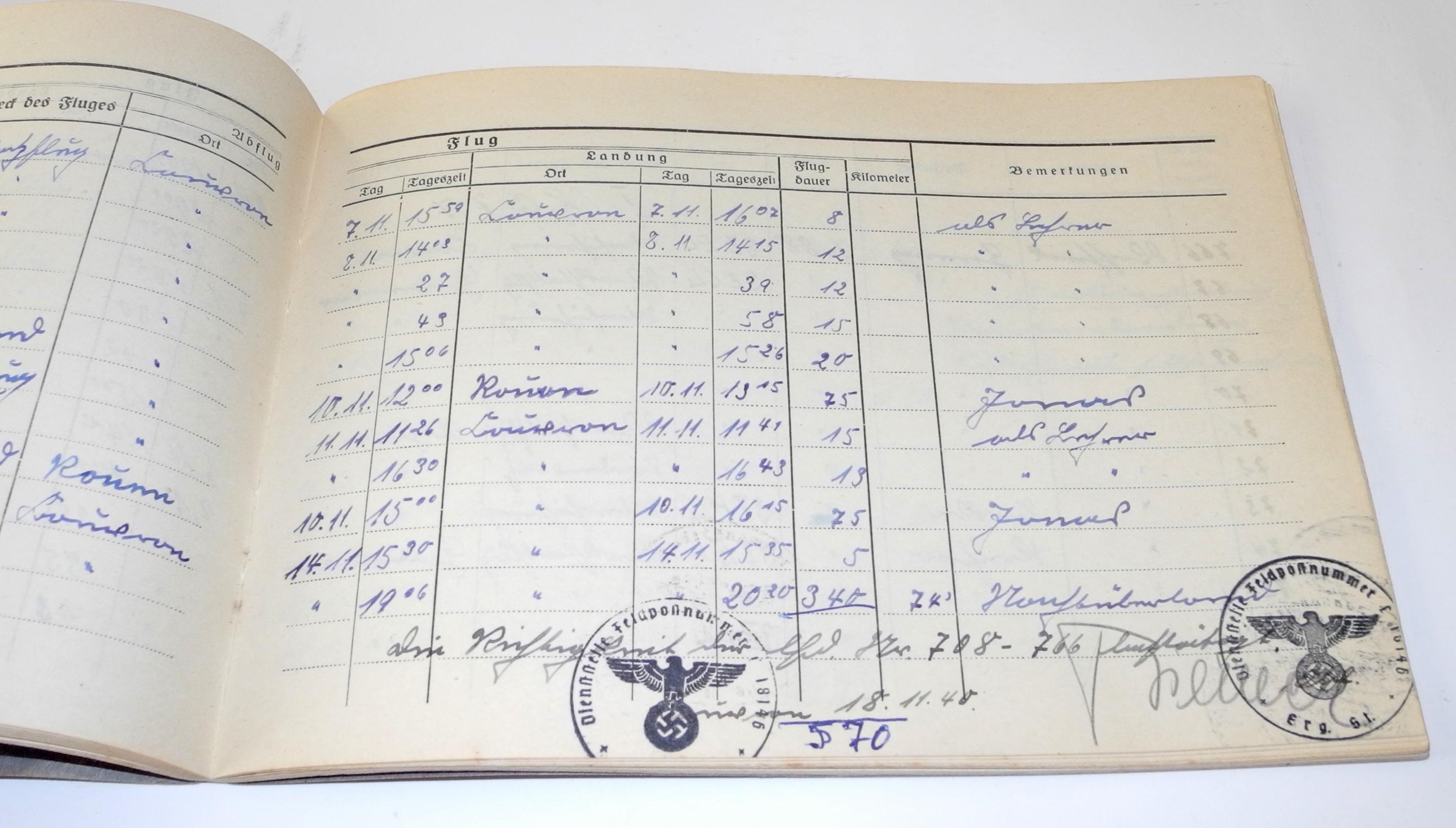 LW Battle of Britain Ju88 pilot log