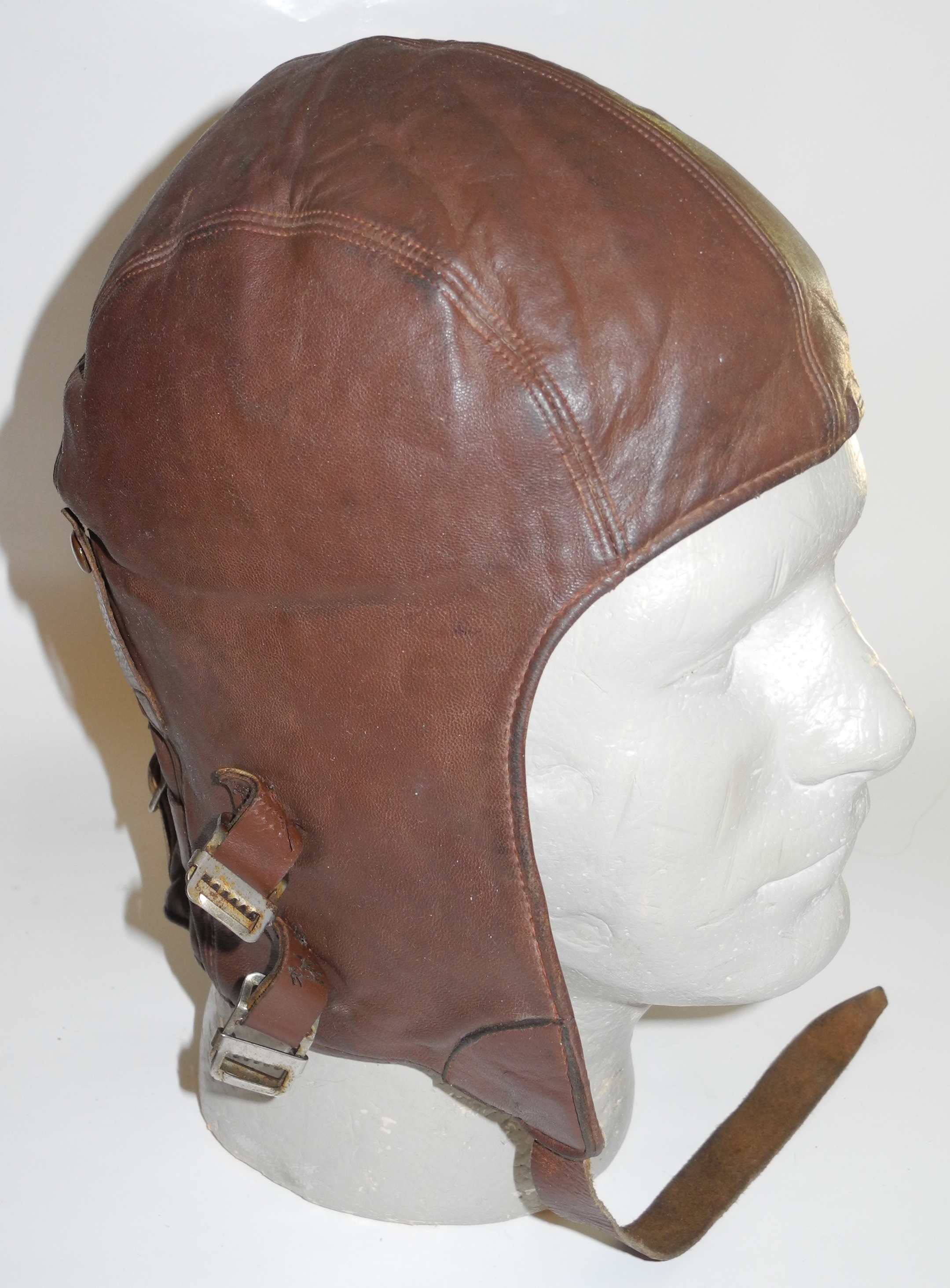 RCAF Type B helmet with modified buckles