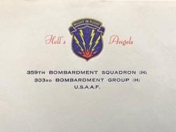 "AAF ""Hell's Angels"" letterhead 359th BS"