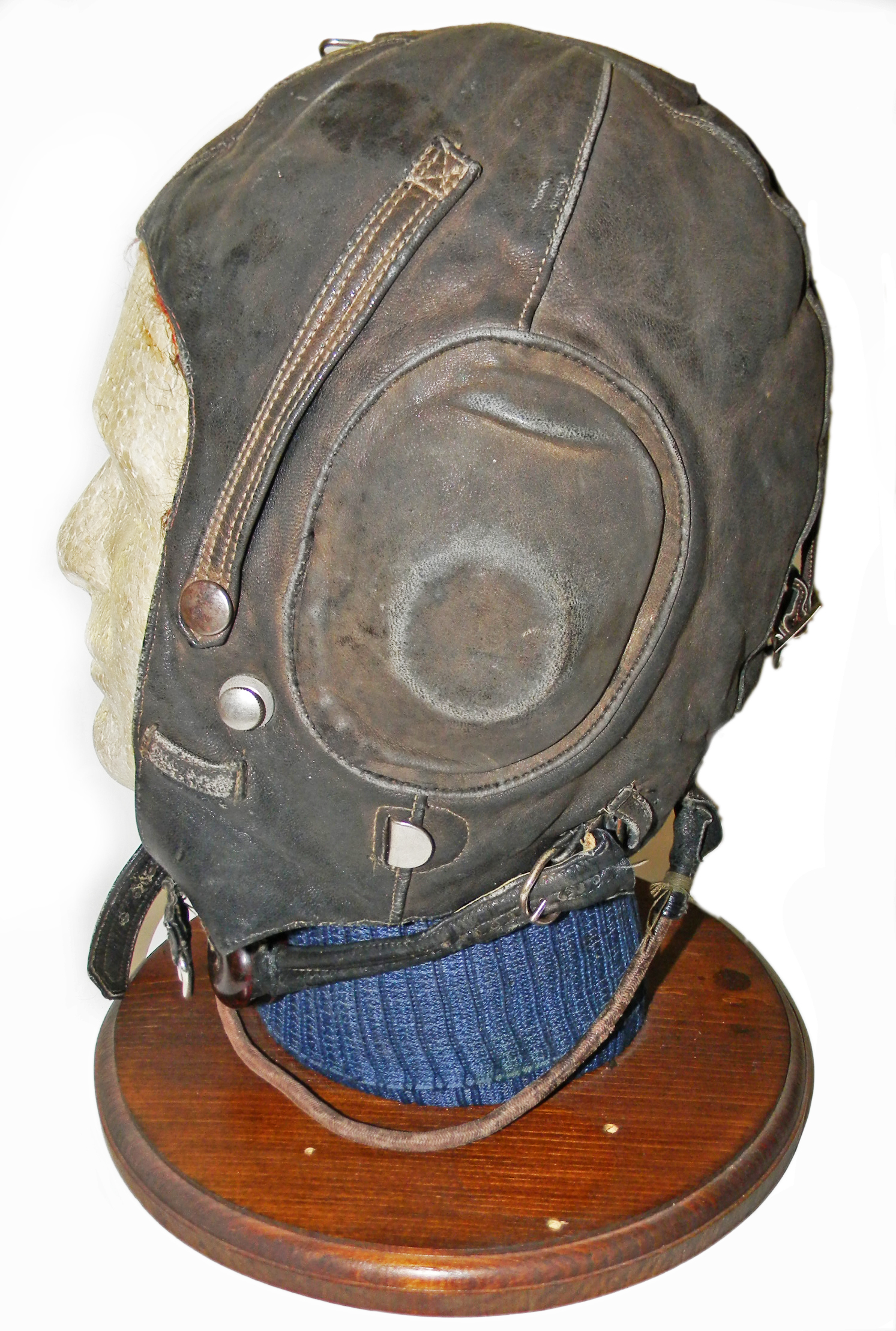 WWII USSR radio flying helmet
