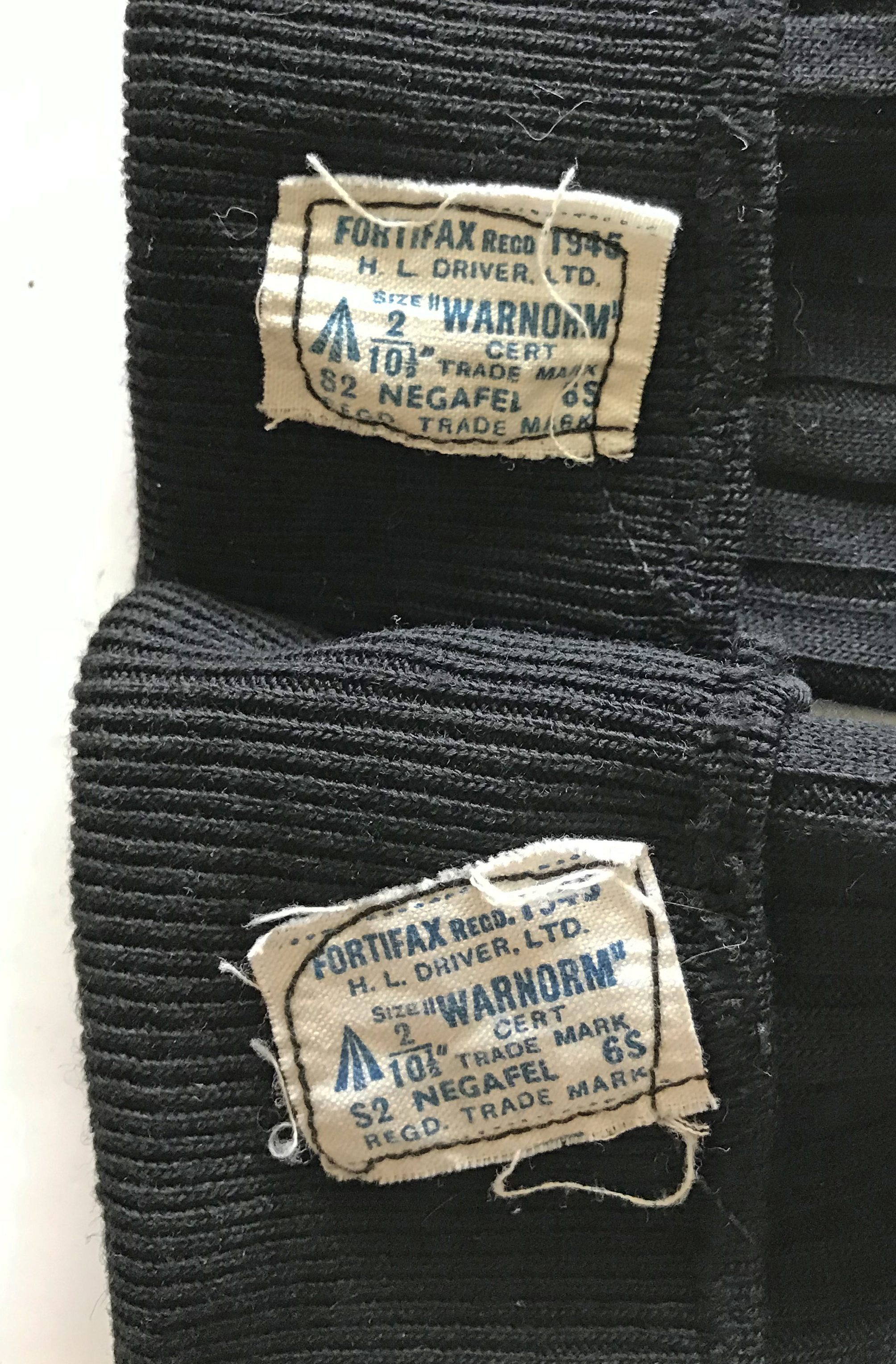 RAF uniform socks dated 1945