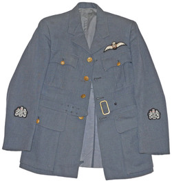 WWII issue Service Dress tunic to a Warrant Officer pilot.