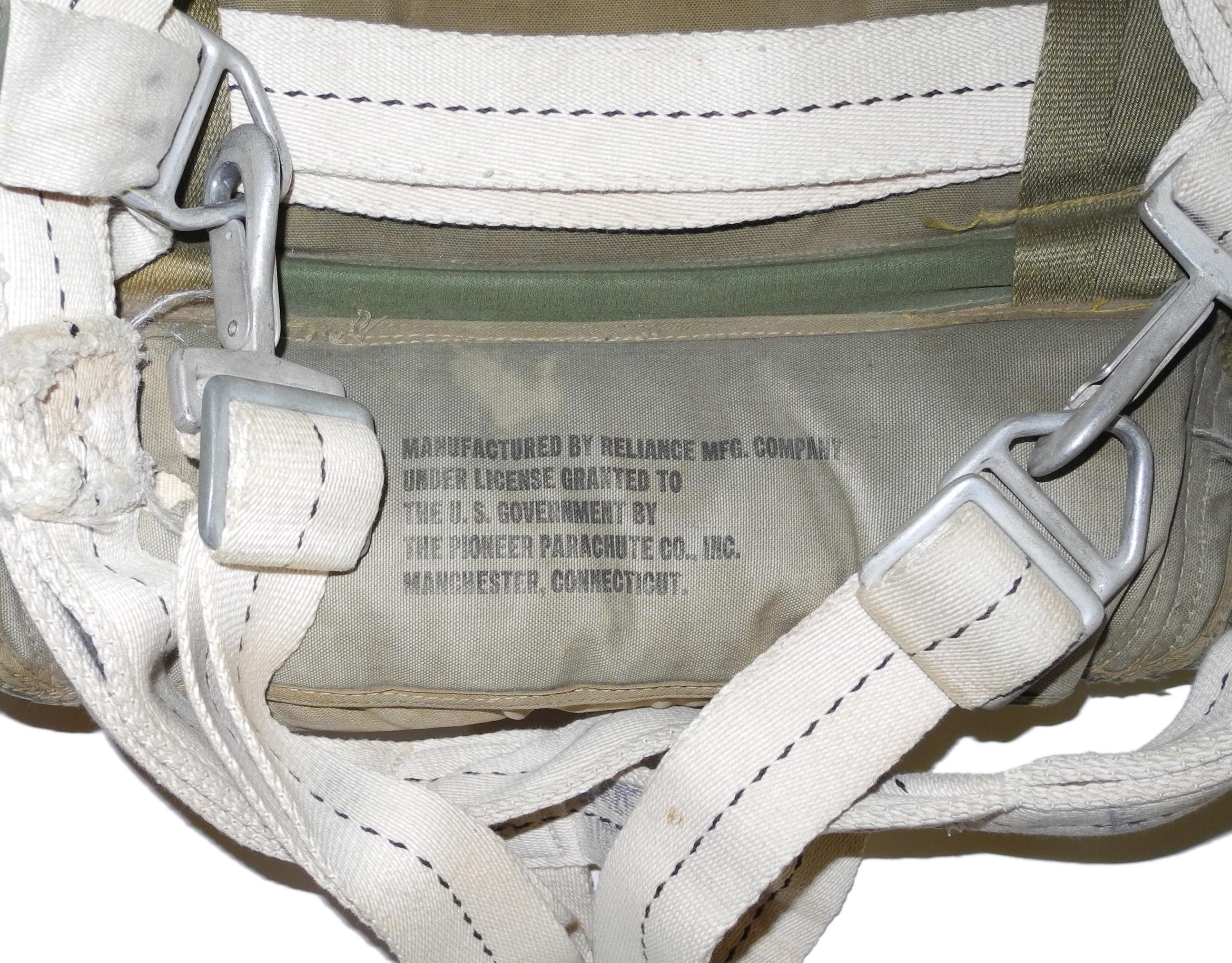 WWII AAF B-8 back parachute