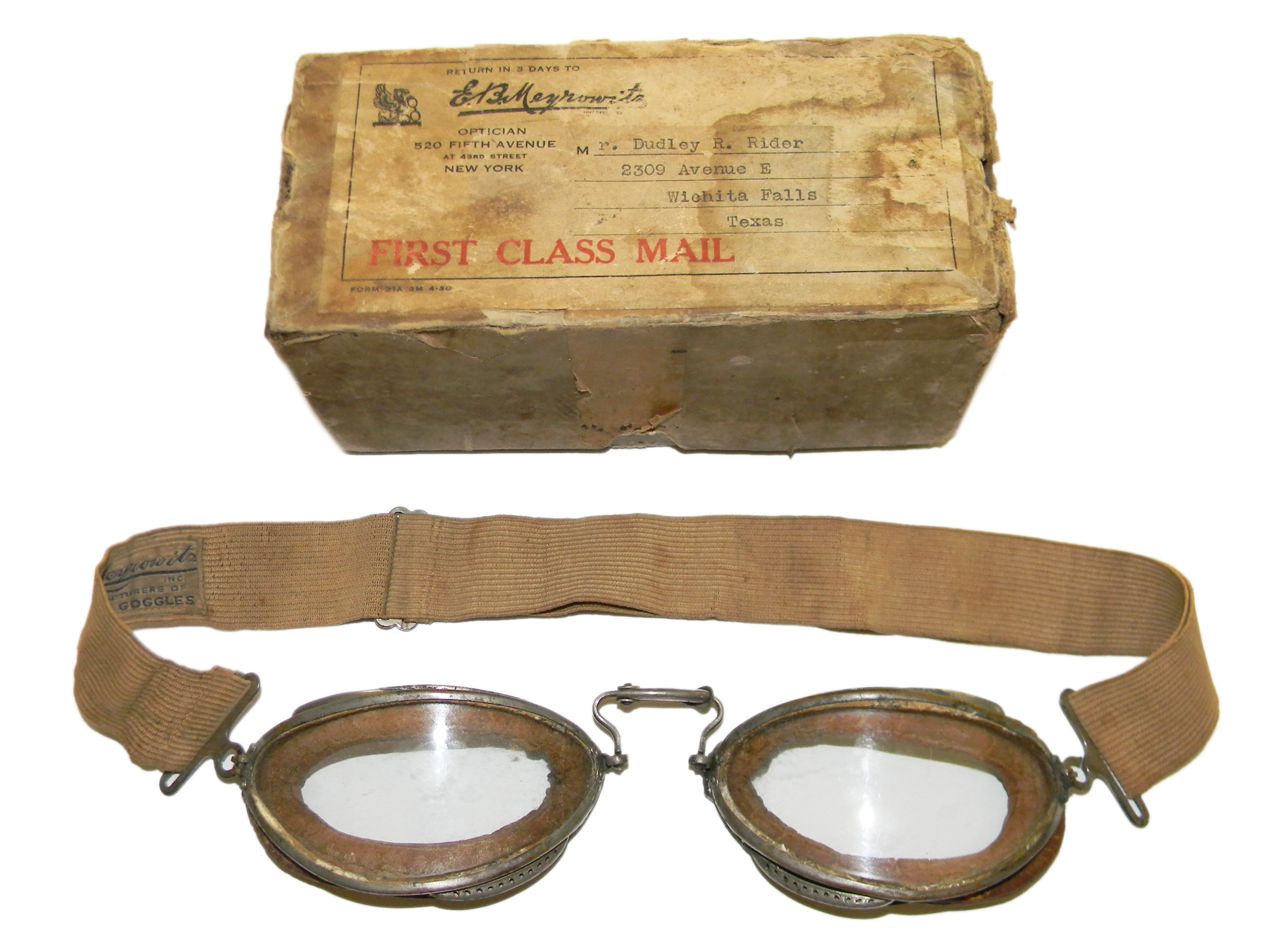 Luxor Meyrowitz No. 6 flying goggles
