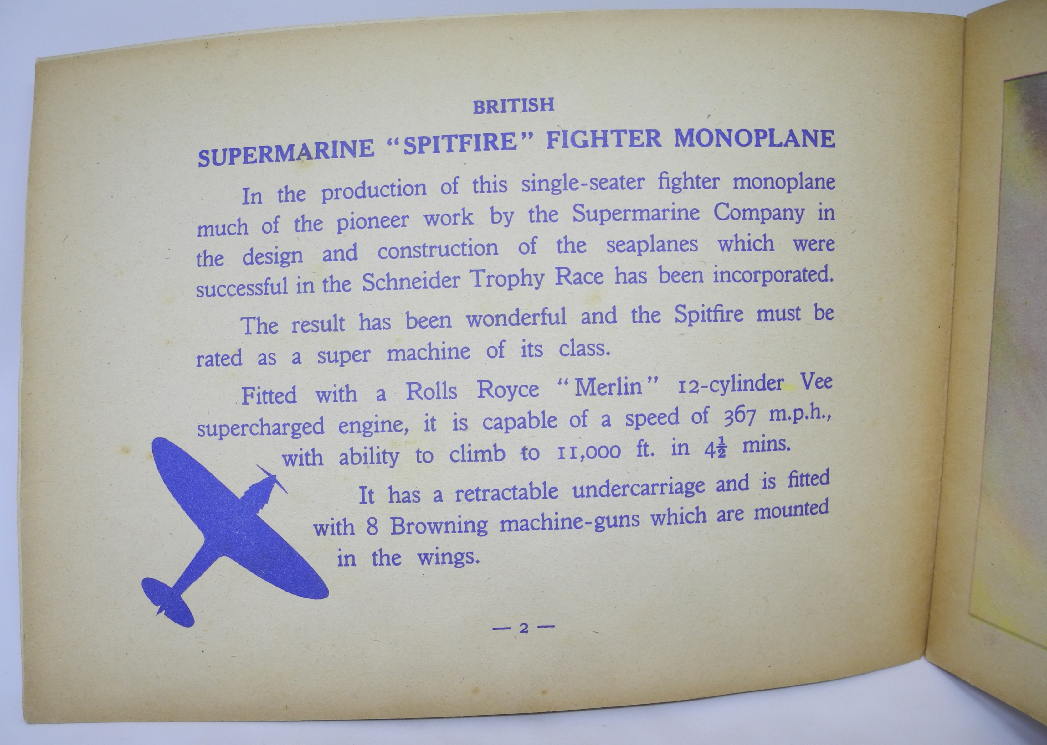 Children's book of WWII FIGHTERS