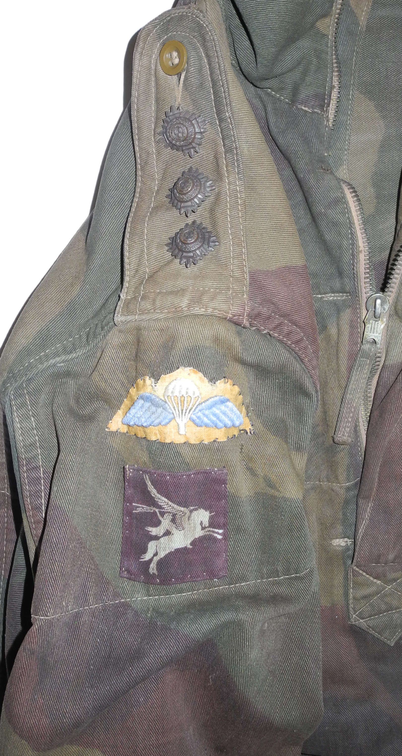 2nd Pattern Denison smock with jump wings and Pegasus patch